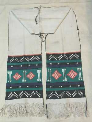 original antique native american hopi pueblo embroidered dance sash