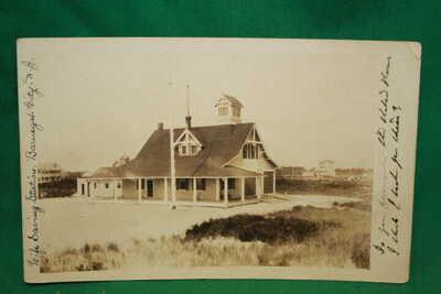 RPPC Life Saving Station Barnegat NJ posted 1910 divided