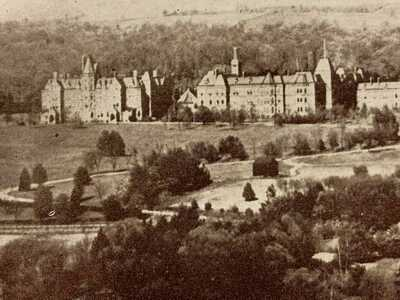 Poughkeepsie New York Hudson River State Hospital Vintage Postcard #1823