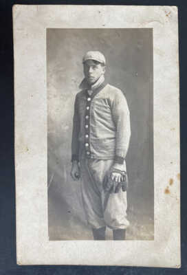 Mint USA Real Picture Postcard Vintage Baseball Player Catcher 1890s