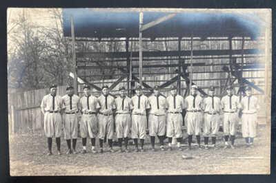 Mint USA Real Picture Postcard Vintage Baseball Team Players E