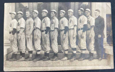 Mint USA Real Picture Postcard Vintage Baseball Players Team 1910