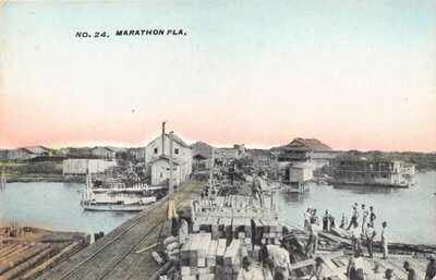 FL 1900's VERY RARE! HUBER Florida Marathon Overseas FEC Railroad to Key West