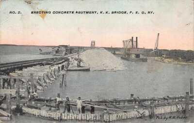 FL 1900's RARE! HUBER Florida Knights Key Overseas FEC Railroad to Key West