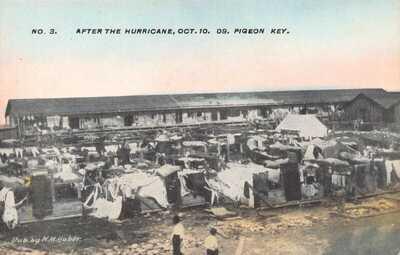 FL 1909 RARE! HUBER Florida Hurricane at Pigeon Key - FEC Railroad to Key West