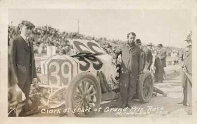 Grand Prix auto race - 1912 - Milwaukee WI - Clark in Mercedes - RPPC