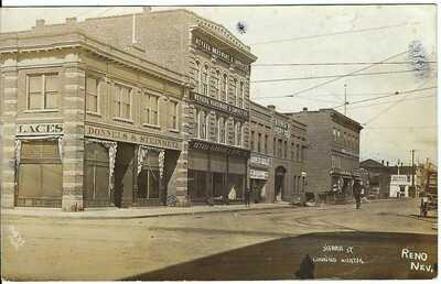 Sierra St. Looking North, RENO, NEV. ~ c.1908 ~ RPPC ~ Washoe County, Nevada