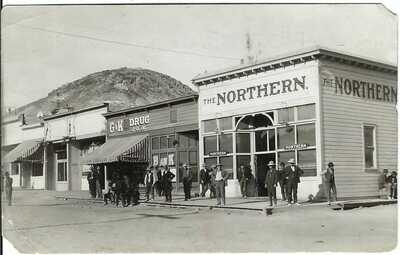RAWHIDE, NEV. ~ Street Scene ~ RPPC ~ c.1909 ~ Summer, After the Fire