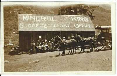 Mineral King Store & Post Office, MINERAL KING, CAL. ~ Tulare County ~ RPPC