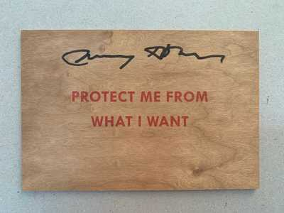 Jenny Holzer Truisms Wood Post Card Signed