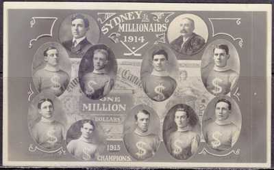 Hockey, Sydney Millionairs 1914, 1913 Champions, Real Photo, Players Named
