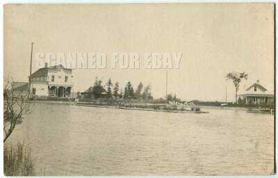 RPPC Torch Lake, Clam River Helena MI Michigan Antrim Co 1910s