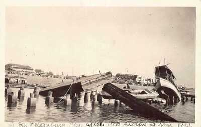 FL 1921 RARE! Florida REAL PHOTO Hurricane Aftermath in St Petersburg, FLA