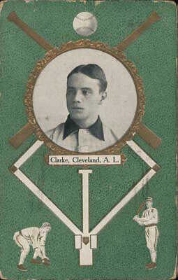 Baseball Rare: Nig Clarke #30,Cleveland,American League 1908 The Rose Company
