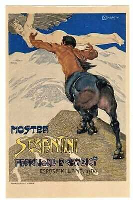 POSTCARD ITALIAN 1906 SEGANTINI SHOW ARTIST-SIGNED MAGRINI (NP)