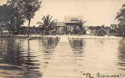 FL 1916 RARE! REAL PHOTO Florida The Ripraps at Captiva Island, FLA - Sanibel