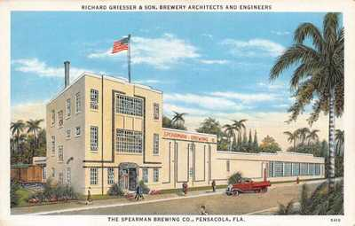 FL - 1920's FLORIDA Spearman Beer Brewing Company at Pensacola, FLA