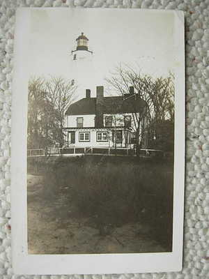 RPPC-FORT HANCOCK NJ-SANDY HOOK LIGHTHOUSE-NEW JERSEY-MIDDLETOWN-MONMOUTH COUNTY