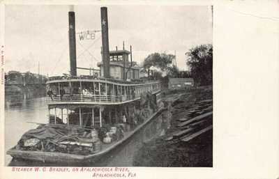 FL 1900's RARE! Florida W C Bradley Steamer Apalachicola, FLA -Franklin Coun