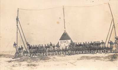 FL 1900's REAL PHOTO Florida 111th Company at  Ft Dade - St Petersburg, Fla