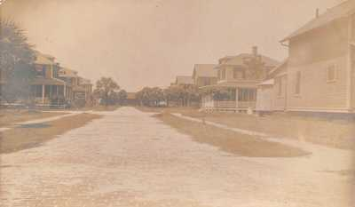 FL 1910's RARE! REAL PHOTO Florida Home Row Fort Dade Egmont Key - St Petersbu