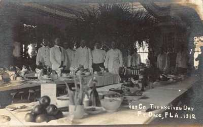 FL - 1912 REAL PHOTO Florida Thanksgiving Day at Ft Dade - St Petersburg, Fla