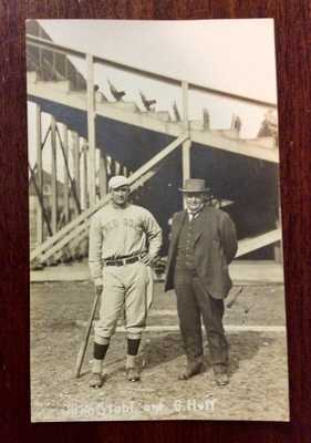 Postcard University of Illinois Coach George Huff Red Sox Player Jake Stahl 1913