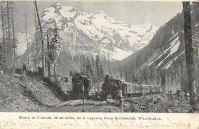 Snohomish Washington Cascade Mountains Railroad Vintage Postcard AA11146