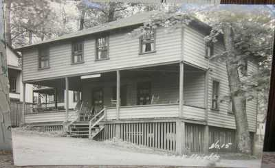 REAL PHOTO VIEW MISSIONARY COTTAGE, CENTRAL OAK HEIGHTS, MILTON, PA real photo