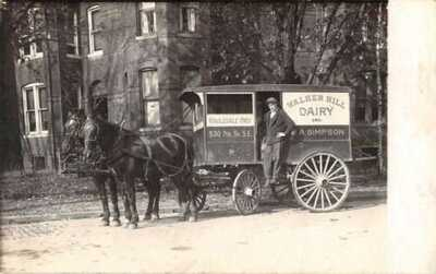Washington DC Walker Hill Dairy Horse Wagon Real Photo Vintage Postcard AA13888