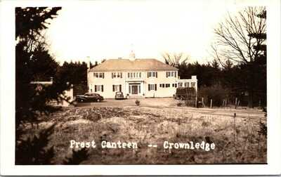 Rppc WWII, PREST CANTEEN, CROWNLEDGE, LANCASTER MASSACHUSETTS, Eck REAL PHOTO