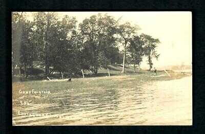 1dRPPC Antioch, Ill. 1910 South Shore Loon Lake Camp Fountain