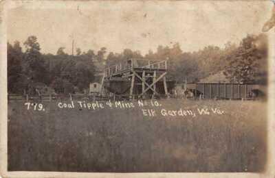 Elk Garden West Virginia Coal Tipple  and Mine No 10 Real Photo Postcard AA16623