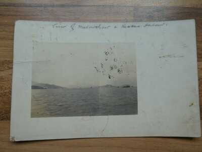 1912 Posted Real Photo Postcard Macao Harbour Republica  Macau  Ningpo & Lappa