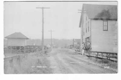 O'Brien Washington Ghost town Postcard RPPC AZO Photo Kent Green River