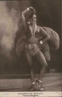 Actress RPPC Josephine Baker-Folies-Bergere Real Photo Post Card Vintage