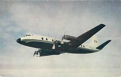 PAKISTAN INTERNATIONAL AIRLINES VISCOUNT B15 AIRPLANE  VINTAGE POSTCARD VIEW