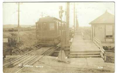O'Brien Washington Electric Railway Station Seattle Ghost town Postcard RPPC