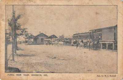 Rehoboth Delaware Penna Noon Train Station Vintage Postcard AA22913