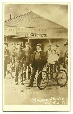 """Texas **JUDGE ROY BEAN** and the """"JERSEY LILLY"""" SALOON Mint RARE RPPC Postcard"""