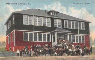 2 Different Altavista Virginia High School by WE Burgess Postcards AA26630