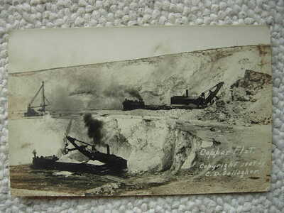 RPPC-ELY NV-COPPER FLAT-RAILROAD-TRAIN-C D GALLAGHER-NEV-NEVADA-1909-REAL PHOTO
