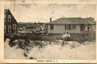FIRE ISLAND LONG ISLAND CHERRY GROVE AFFECTIONATE MEN 1926 GAY INTEREST POSTCARD