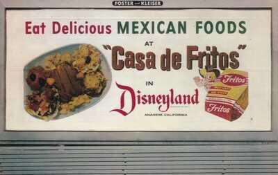 Disneyland Fritos Billboard Sign California Postcard 1955