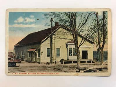 RARE 1921 W.E.Burgess Scottsville VA C&O RR Station Fredericks Hall VA