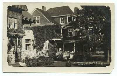 Au Sable MI Residences of E.F. Loud & Long RPPC c1908 Postcard ~ Michigan