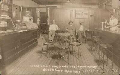RPPC Boyes Hot Springs,CA Interior of Nathan's Ice Cream Parlor Sonoma County