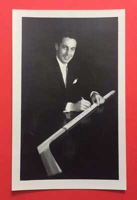 Rare c.1950s-'60s Canadiens JEAN BELIVEAU Real Photo Postcard - Sherbrooke Stick