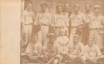 FL 1900's RARE! Florida REAL PHOTO Baseball Team at Cocoa, FLA - Brevard Count