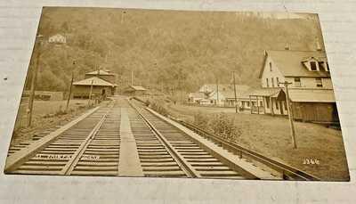 Fairfax WA  RPPC Station, Railroad, Houses c1910